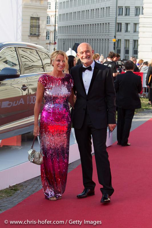 VIENNA, AUSTRIA - JUNE 26: Doris and Gabor Rose arrive at the gala event 450 years Spanische Hofreitschule on June 26, 2015 in Vienna, Austria.  (Photo by Chris Hofer/Getty Images)