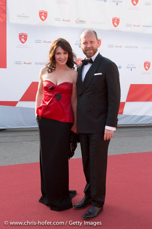 VIENNA, AUSTRIA - JUNE 26: Iris Berben with Daniel Wingate attend the gala event 450 years Spanische Hofreitschule on June 26, 2015 in Vienna, Austria.  (Photo by Chris Hofer/Getty Images)
