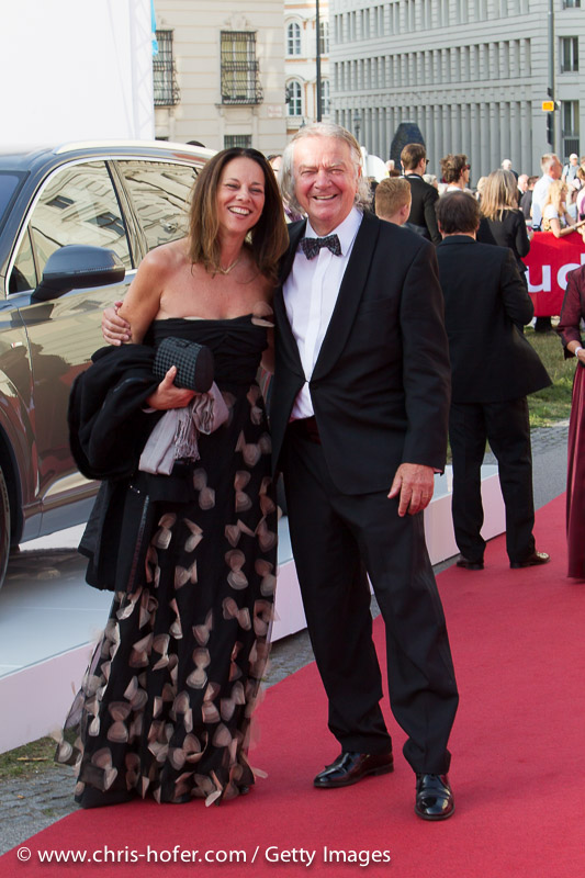 VIENNA, AUSTRIA - JUNE 26: Vera Russwurm and Peter Hofbauer attend the gala event 450 years Spanische Hofreitschule on June 26, 2015 in Vienna, Austria.  (Photo by Chris Hofer/Getty Images)