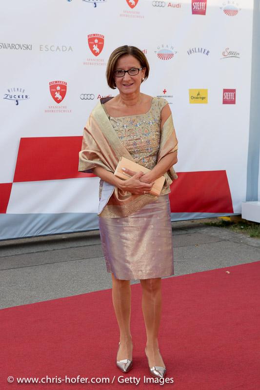 VIENNA, AUSTRIA - JUNE 26: Johanna Mikl-Leitner attends the gala event 450 years Spanische Hofreitschule on June 26, 2015 in Vienna, Austria.  (Photo by Chris Hofer/Getty Images)