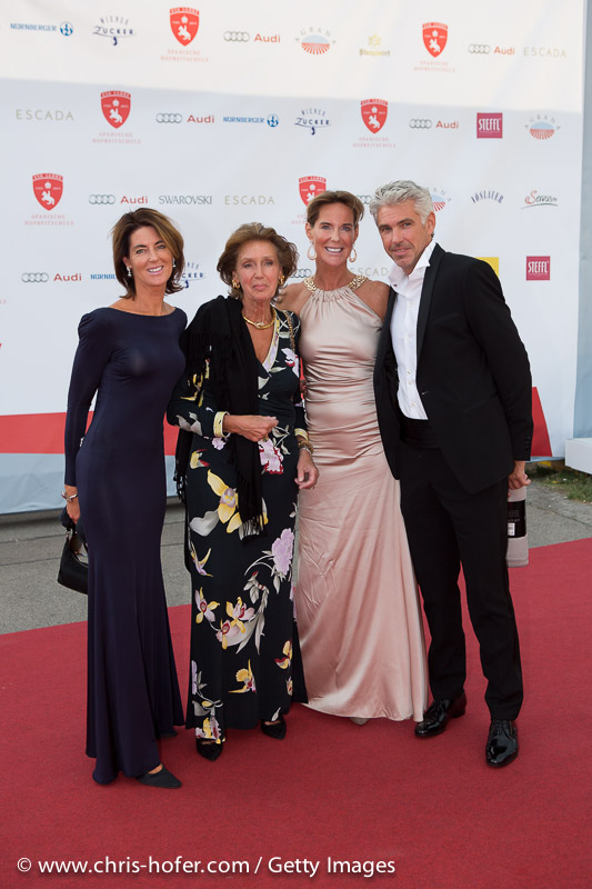 VIENNA, AUSTRIA - JUNE 26: Gabi Stumpf and Kathi Stumpf with entourage attend the gala event 450 years Spanische Hofreitschule on June 26, 2015 in Vienna, Austria.  (Photo by Chris Hofer/Getty Images)