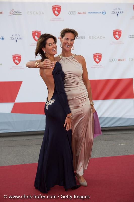 VIENNA, AUSTRIA - JUNE 26: Gabi Stumpf and Kathi Stumpf attend the gala event 450 years Spanische Hofreitschule on June 26, 2015 in Vienna, Austria.  (Photo by Chris Hofer/Getty Images)