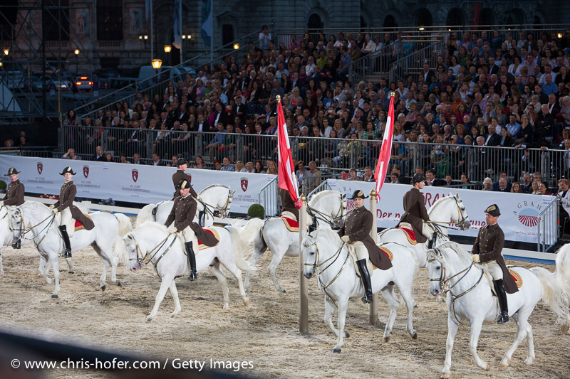 VIENNA, AUSTRIA - JUNE 26:  gala event 450 years Spanische Hofreitschule on June 26, 2015 in Vienna, Austria.  (Photo by Chris Hofer/Getty Images)