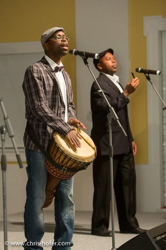 AMREF Black & White Charity-Gala im Gwandhaus Salzburg, 2014-05-16; Foto: Chris Hofer; Bild zeigt; Band MoZuluArt