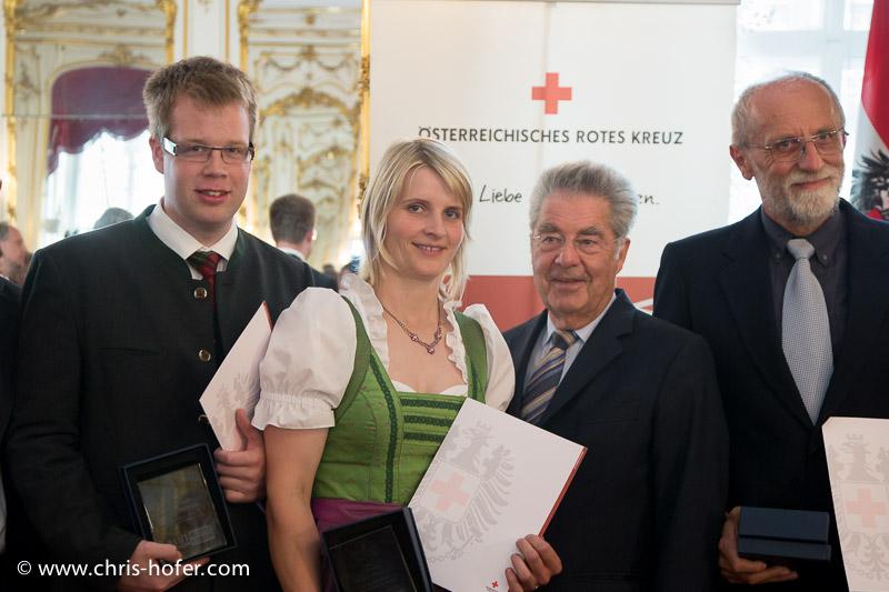 Ehrung einer Delegation des Österr. Roten Kreuz - Blutspender - durch Bundespräsident Dr. Heinz Fischer, Präsidentschaftskanzlei Hofburg Wien, 2015-06-24, Foto: Chris Hofer