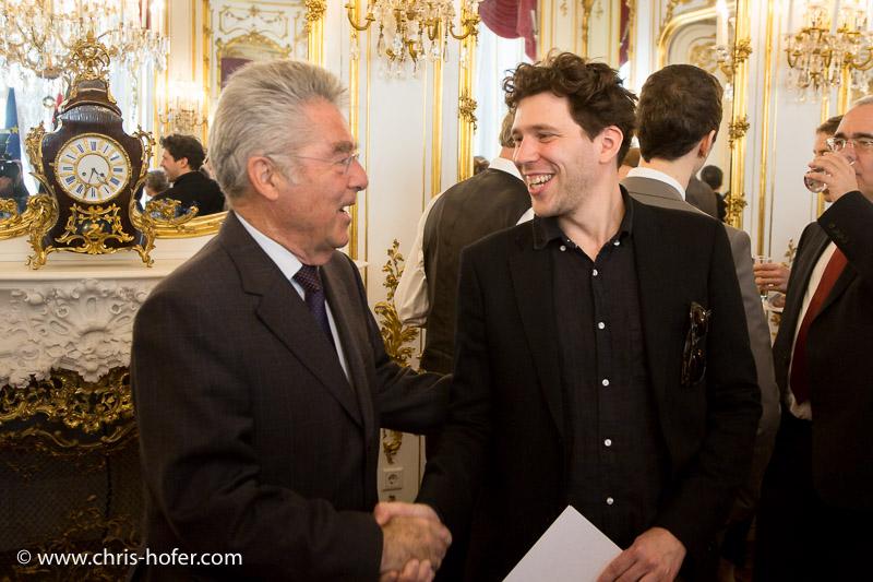 Bundespräsident Dr. Heinz Fischer empfängt die Preisträger des Theodor Körner-Fonds zur Förderung von Wissenschaft und Kunst in der Wiener Hofburg, 2015-05-11, Foto: Chris Hofer