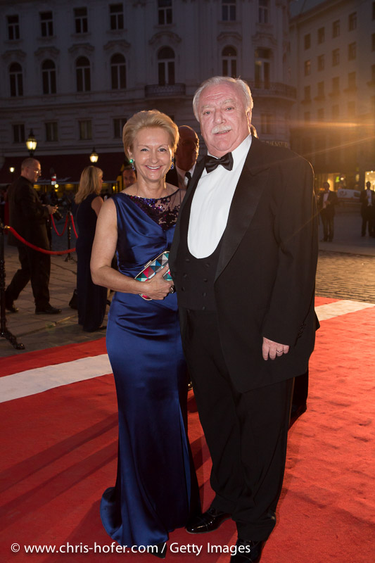 VIENNA, AUSTRIA - JUNE 26: Mayor and Governor of Vienna Michael Haeupl with his wife Barbara attend the Fete Imperiale 2015 on June 26, 2015 in Vienna, Austria.  (Photo by Chris Hofer/Getty Images)