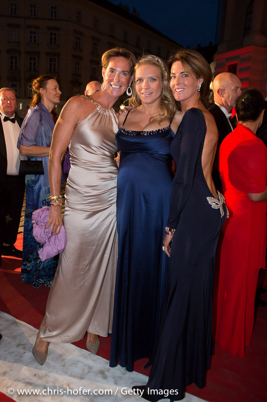 VIENNA, AUSTRIA - JUNE 26: Kathi Stumpf, Nikola Fechter and Gabi Stumpf attend the Fete Imperiale 2015 on June 26, 2015 in Vienna, Austria.  (Photo by Chris Hofer/Getty Images)