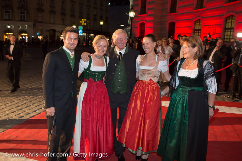 VIENNA, AUSTRIA - JUNE 26: Stanglwirt Balthasar Hauser and family attend the Fete Imperiale 2015 on June 26, 2015 in Vienna, Austria.  (Photo by Chris Hofer/Getty Images)