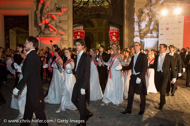 VIENNA, AUSTRIA - JUNE 26:  Debutants at the Fete Imperiale 2015 on June 26, 2015 in Vienna, Austria.  (Photo by Chris Hofer/Getty Images)