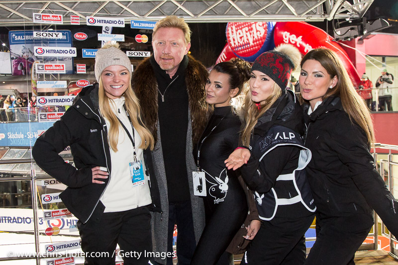 SAALBACH-HINTERGLEMM, AUSTRIA - DECEMBER 05:  Boris Becker during the third and final day of the Formula Snow 2015 ski opening on December 5, 2015 in Saalbach-Hinterglemm, Austria.  (Photo by Chris Hofer/Getty Images)