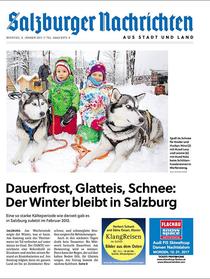 Salzburger Nachrichten 09.01.2017, Titelseite Lokal