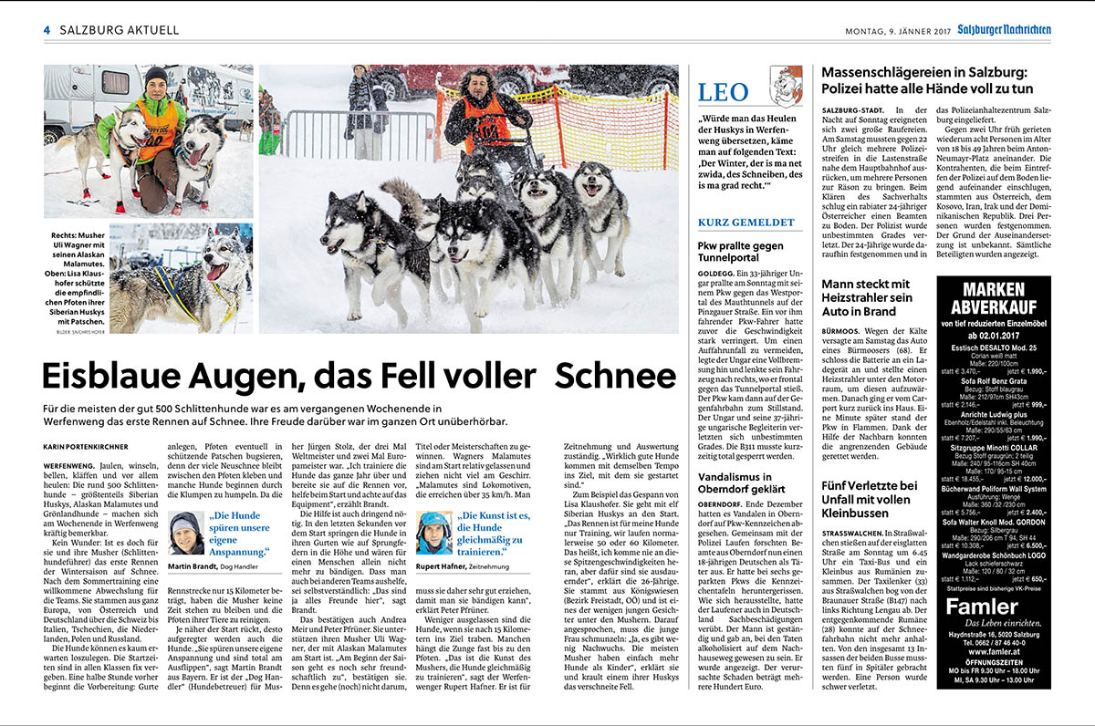 Salzburger Nachrichten 09.01.2017, Lokal S. 4 - 5