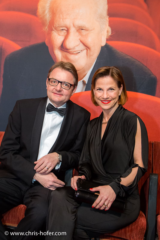 VIENNA, AUSTRIA - MARCH 19: Kristina Sprenger and Gerald Gerstbauer attend Karl Spiehs 85th birthday celebration on March 19, 2016 in Vienna, Austria. (Photo by Chris Hofer/Getty Images)