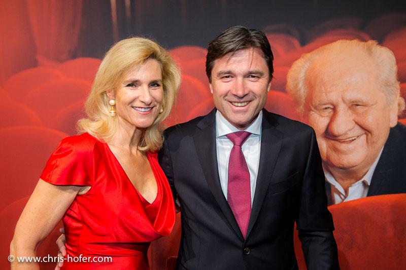 VIENNA, AUSTRIA - MARCH 19: Gudula von Eysmondt and entourage attend Karl Spiehs 85th birthday celebration on March 19, 2016 in Vienna, Austria. (Photo by Chris Hofer/Getty Images)