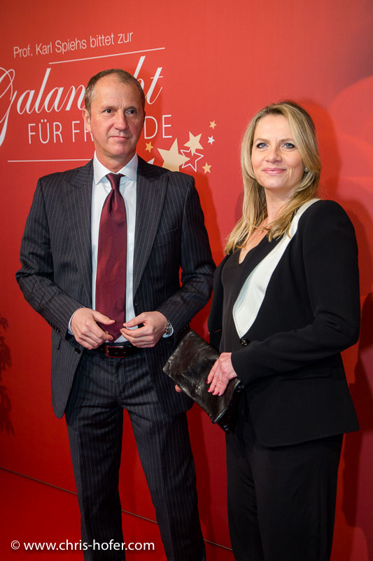VIENNA, AUSTRIA - MARCH 19: Georg Feldmann and Susanne Michl attend Karl Spiehs 85th birthday celebration on March 19, 2016 in Vienna, Austria. (Photo by Chris Hofer/Getty Images) *** Local Caption *** Susanne Michl