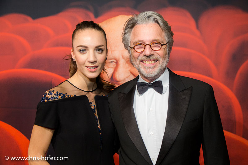 VIENNA, AUSTRIA - MARCH 19: Adi Hirschal and his daughter Maddalena Hirschal attend Karl Spiehs 85th birthday celebration on March 19, 2016 in Vienna, Austria. (Photo by Chris Hofer/Getty Images) *** Local Caption *** Adi Hirschal; Maddalena Hirschal