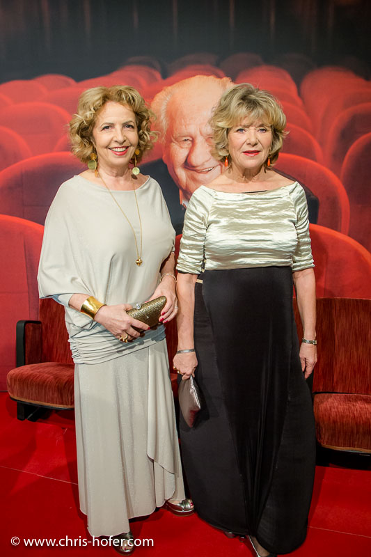 VIENNA, AUSTRIA - MARCH 19: Michaela May and Jutta Speidel attend Karl Spiehs 85th birthday celebration on March 19, 2016 in Vienna, Austria. (Photo by Chris Hofer/Getty Images)