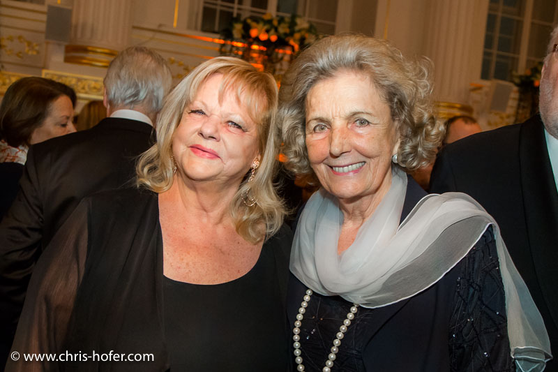 VIENNA, AUSTRIA - MARCH 19: Marianne Mendt and Inge Unzeitig attend Karl Spiehs 85th birthday celebration on March 19, 2016 in Vienna, Austria. (Photo by Chris Hofer/Getty Images)