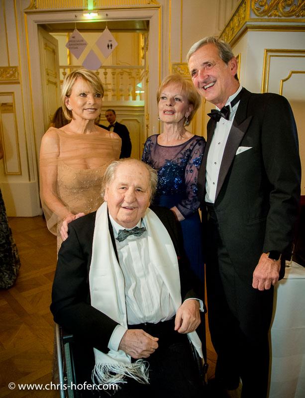 VIENNA, AUSTRIA - MARCH 19: Uschi Glas and Dieter Hermann attend Karl Spiehs 85th birthday celebration on March 19, 2016 in Vienna, Austria. (Photo by Chris Hofer/Getty Images)