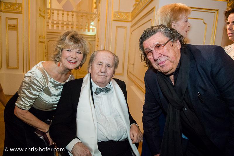 VIENNA, AUSTRIA - MARCH 19: Jutta Speidel and Peter Patzak attend Karl Spiehs 85th birthday celebration on March 19, 2016 in Vienna, Austria. (Photo by Chris Hofer/Getty Images)
