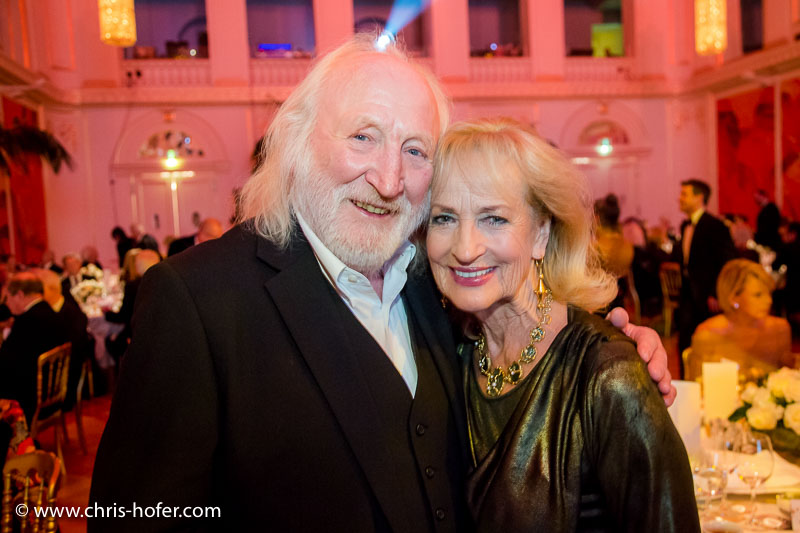 VIENNA, AUSTRIA - MARCH 19: Karl Merkatz and Dagmar Koller attend Karl Spiehs 85th birthday celebration on March 19, 2016 in Vienna, Austria. (Photo by Chris Hofer/Getty Images)
