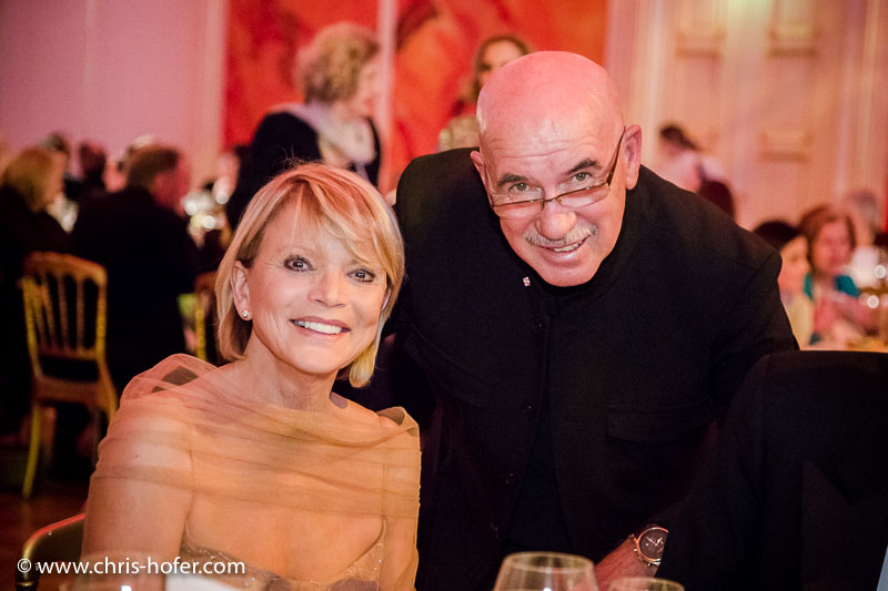 VIENNA, AUSTRIA - MARCH 19: Uschi Glas and Otto Retzer attend Karl Spiehs 85th birthday celebration on March 19, 2016 in Vienna, Austria. (Photo by Chris Hofer/Getty Images)