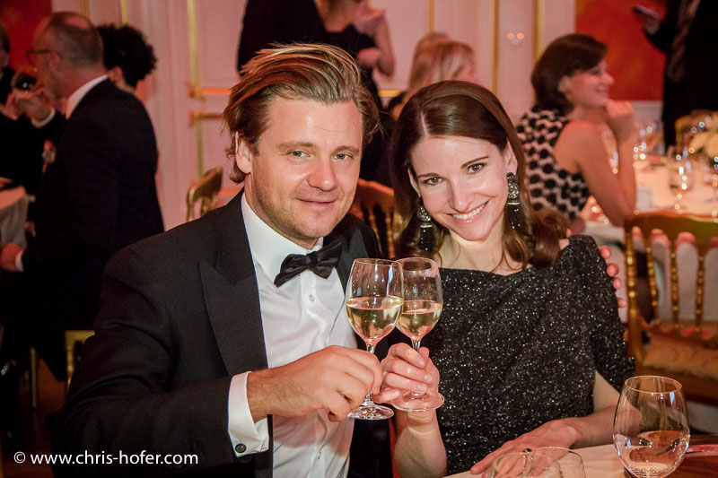 VIENNA, AUSTRIA - MARCH 19: Sophie Wepper and Daniel Meister attend Karl Spiehs 85th birthday celebration on March 19, 2016 in Vienna, Austria. (Photo by Chris Hofer/Getty Images)