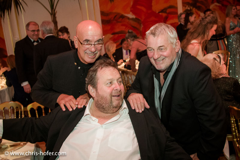 VIENNA, AUSTRIA - MARCH 19: Otto Retzer, Ottfried Fischer and Heinz Hoenig attend Karl Spiehs 85th birthday celebration on March 19, 2016 in Vienna, Austria. (Photo by Chris Hofer/Getty Images) *** Local Caption *** Otto Retzer; Ottfried Fischer; Heinz Hoenig