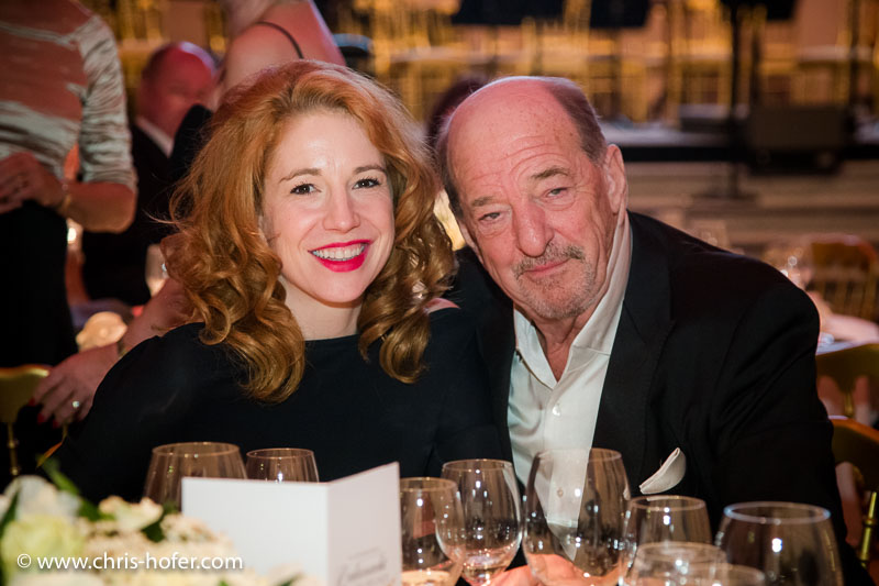 VIENNA, AUSTRIA - MARCH 19: Ralph Siegel with Laura Kaefer attend Karl Spiehs 85th birthday celebration on March 19, 2016 in Vienna, Austria. (Photo by Chris Hofer/Getty Images)