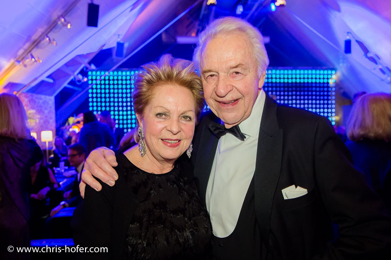 VIENNA, AUSTRIA - MARCH 19: Harald Serafin with his wife Ingeborg attend Karl Spiehs 85th birthday celebration on March 19, 2016 in Vienna, Austria. (Photo by Chris Hofer/Getty Images)